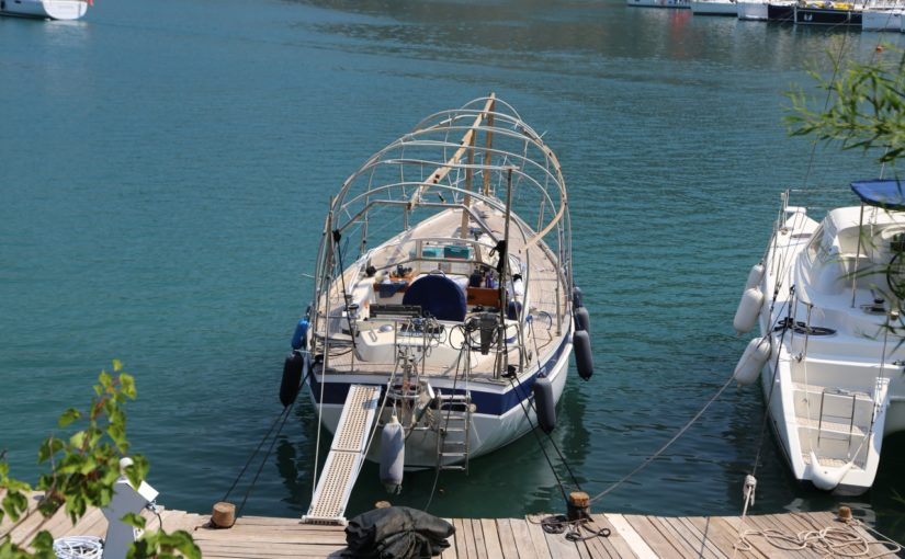 Hallberg Rassy 38, teak deck replacement in Turkey, Part 1