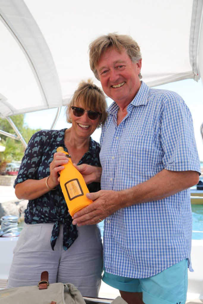 Charter Oceanis 45 champagne reception