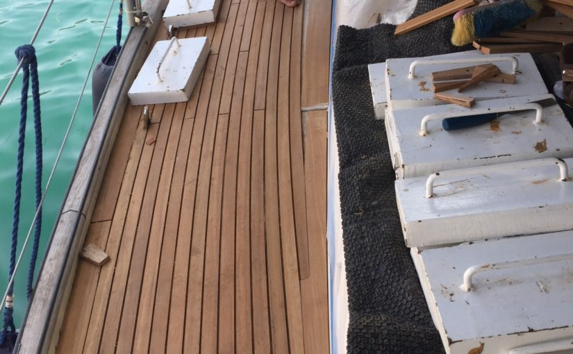 Teak deck photo update – with video walk-around